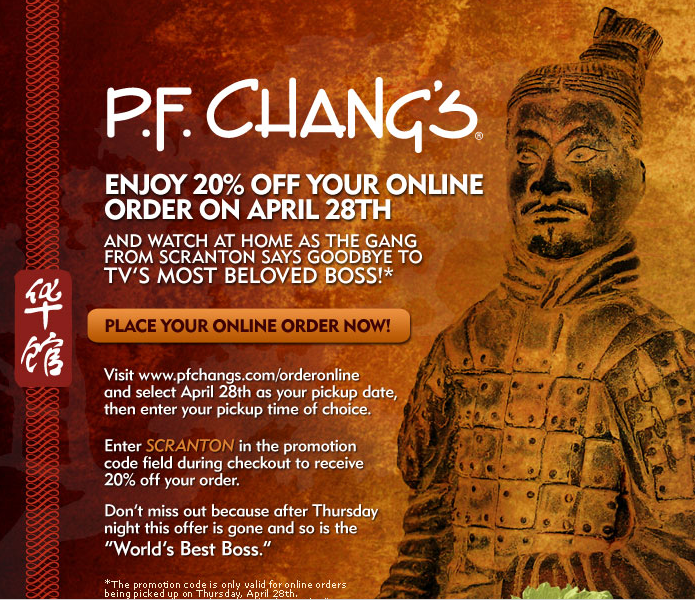 pf changs 20 discount april 28