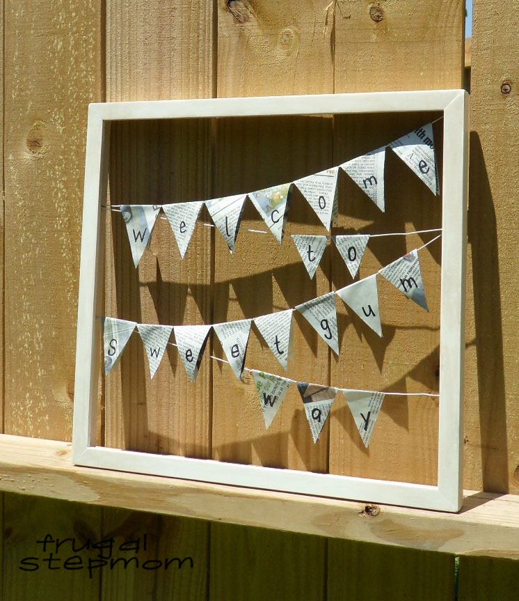 welcome to sweetgum way bunting frame