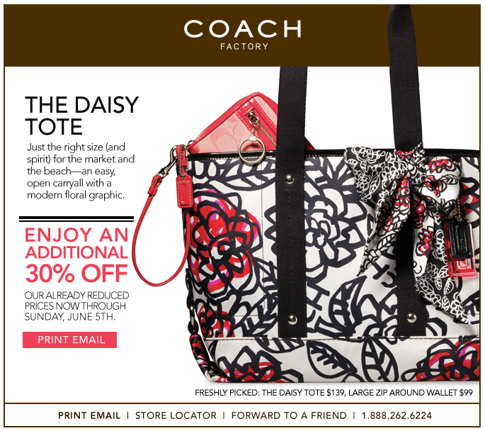 30% off Coach Factory