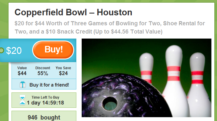 Copperfield Bowl Groupon