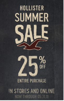 Hollister Co 25% off