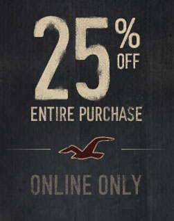 25% off Hollister Co.