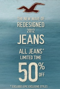 50% Off Hollister Jeans