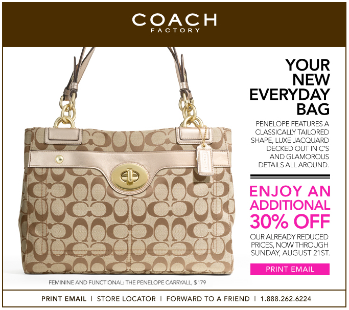 Coach Factory Discount Coupon