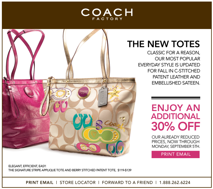 Coach 30% Off Coupon