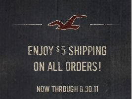 Hollister $5 Shipping