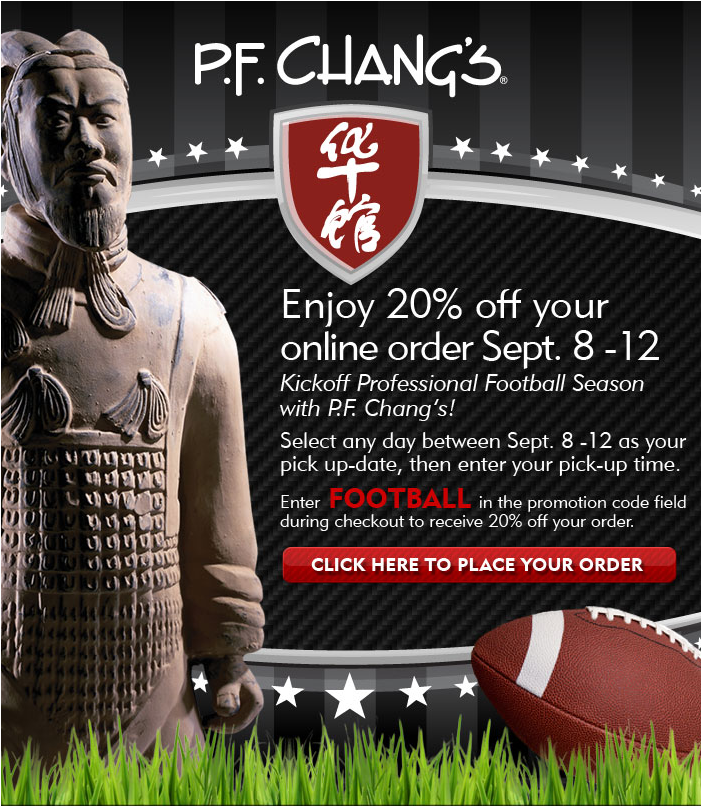 20% OFF P.F. Chang's
