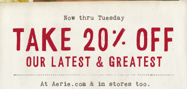 American Eagle.Aerie 20%