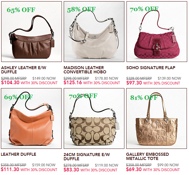 Coach Online Sale November 2011