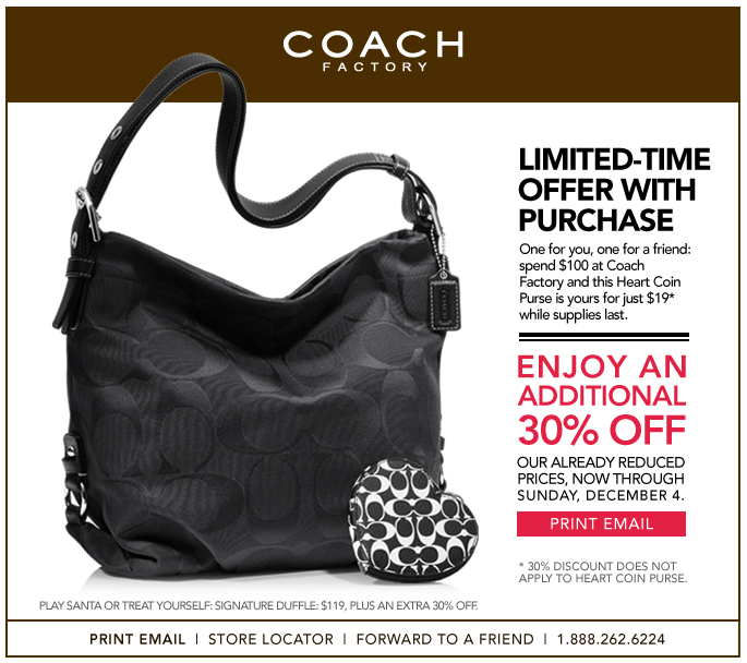 Coach 30% Off + Gift
