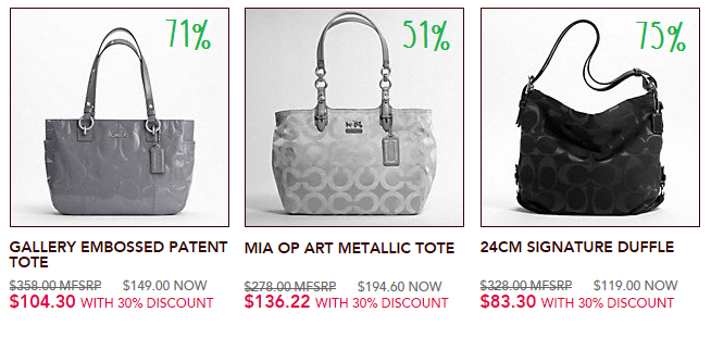 Coach Factory Sale, up to 70% off Coach Handbags | Skimbaco
