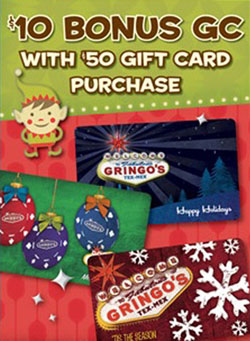 Gringo's Gift Cards
